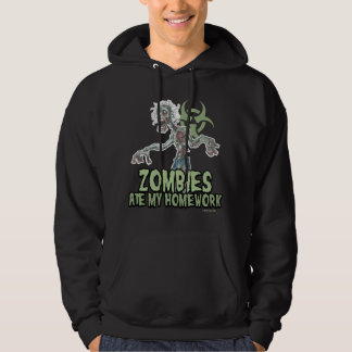 Zombies Ate My Homework Hooded Pullover