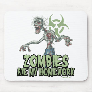 Zombies Ate My Homework Mouse Pad