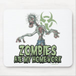 Zombies Ate My Homework Mousepads