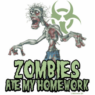 Zombies Ate My Homework Photo Cut Outs