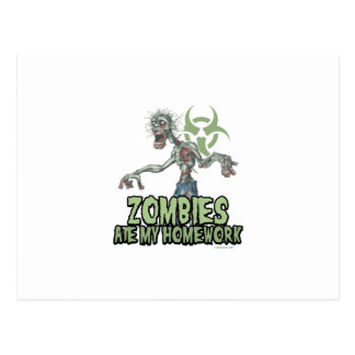 Zombies Ate My Homework Post Card