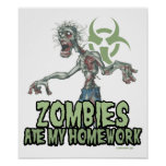 Zombies Ate My Homework Posters