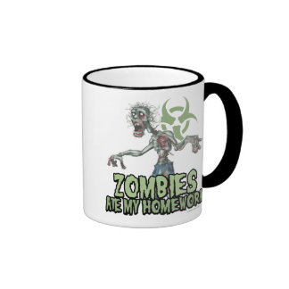 Zombies Ate My Homework Ringer Coffee Mug
