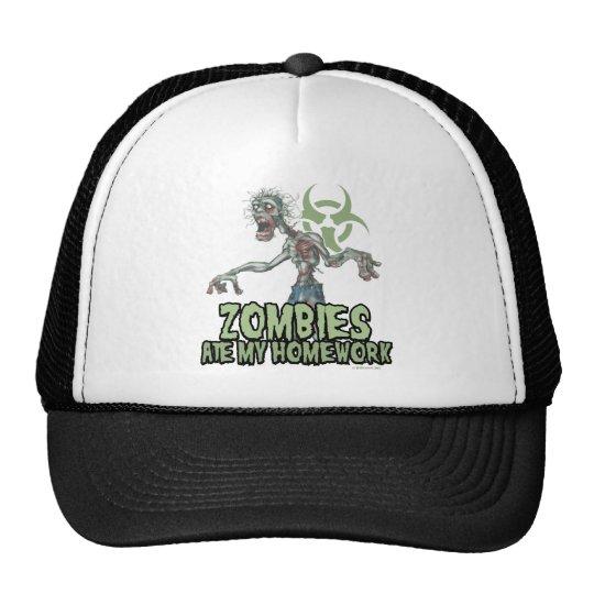Zombies Ate My Homework Trucker Hat