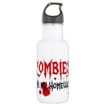 Zombies Ate My Homework Water Bottle