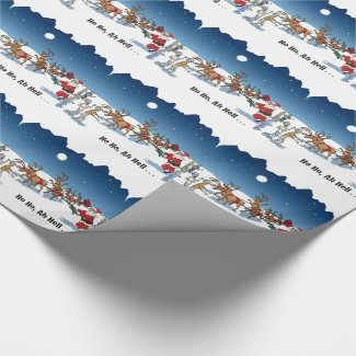 Zombies attack Santa Gift Wrap