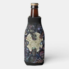 Zombies Attack (zombie Horde) Bottle Cooler at Zazzle