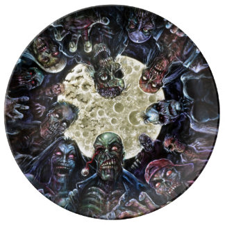 Zombies Attack (Zombie Horde) Dinner Plate