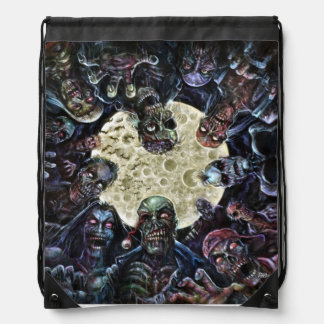 Zombies Attack (Zombie Horde) Drawstring Bag