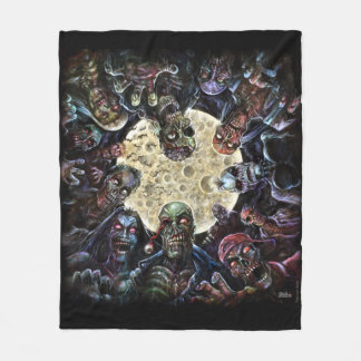 Zombies Attack (Zombie Horde) Fleece Blanket