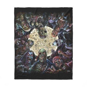 themonsterstore Zombies Attack (Zombie Horde) Fleece Blanket