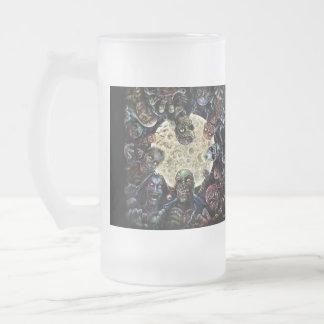 Zombies Attack (Zombie Horde) Frosted Glass Beer Mug