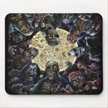 themonsterstore Zombies Attack (Zombie Horde) Mouse Pad