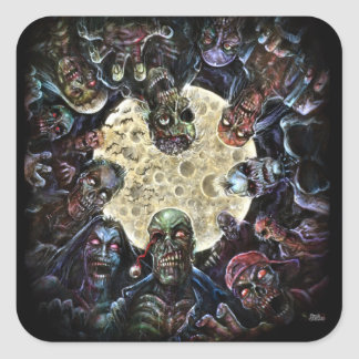 Zombies Attack (Zombie Horde) Square Sticker