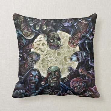 themonsterstore Zombies Attack (Zombie Horde) Throw Pillow