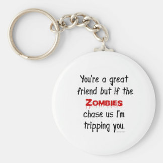 Zombies Basic Round Button Keychain