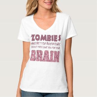 Zombies boyfriend womans tee shirt