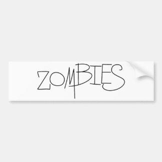 Zombies! Bumper Sticker