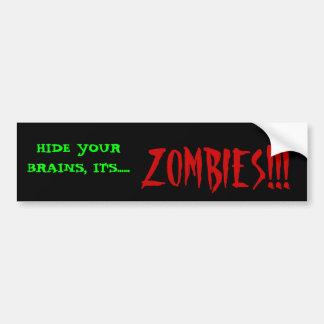 Zombies!! Bumper Sticker