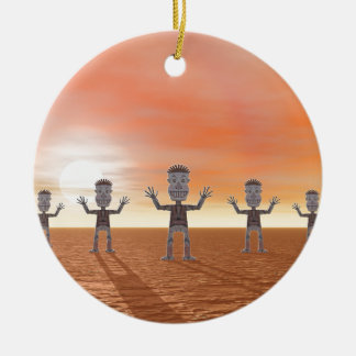 Zombies Ceramic Ornament