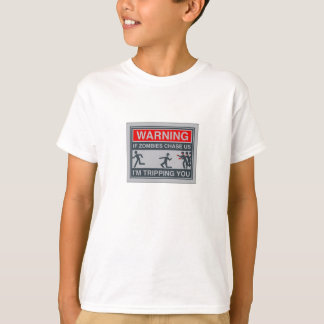 zombies chase tripping you shirt