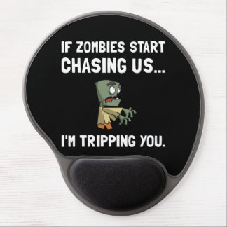 Zombies Chase Us Tripping Gel Mouse Pad