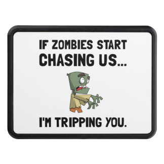 Zombies Chase Us Tripping Tow Hitch Covers