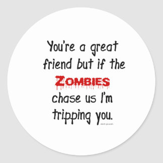 Zombies Classic Round Sticker