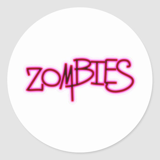 Zombies! Classic Round Sticker