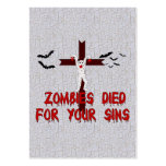 Zombies Died For Your Sins Business Cards