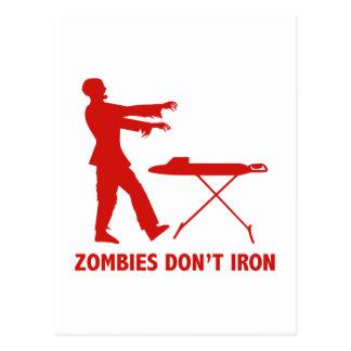 Zombies Don't Iron Postcard