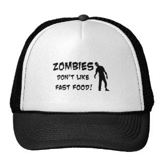 Zombies Don't Like Fast Food Trucker Hat