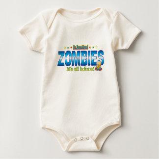 Zombies Dr. B Head Baby Bodysuit