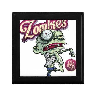 Zombies eat Brains Cajas De Recuerdo