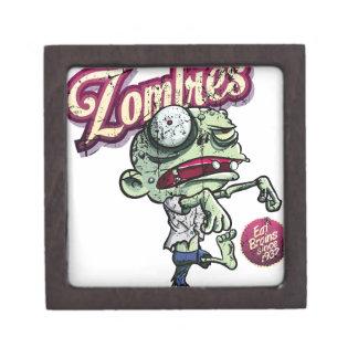 Zombies eat Brains Caja De Regalo De Calidad