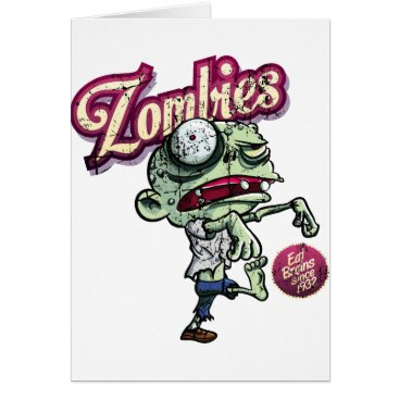 Herotender Zombies eat Brains Card