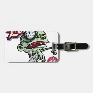 Zombies eat Brains Luggage Tag