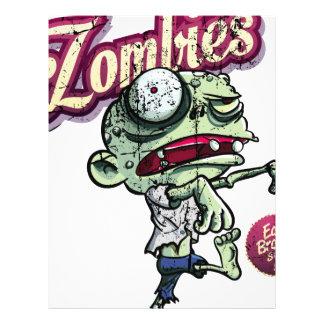 Zombies eat Brains Plantilla De Membrete