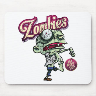 Zombies eat Brains Mouse Pad
