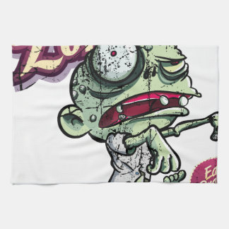 Zombies eat Brains Toallas