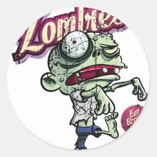 Zombies eat Brains Etiqueta