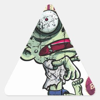 Zombies eat Brains Calcomanías De Trianguladas