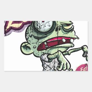 Zombies eat Brains Rectangular Pegatina