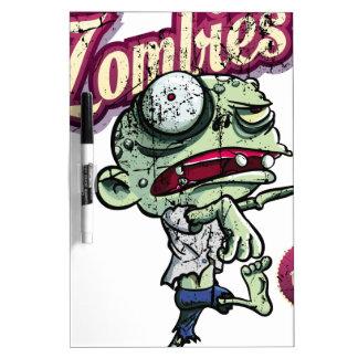 Zombies eat Brains Pizarras Blancas
