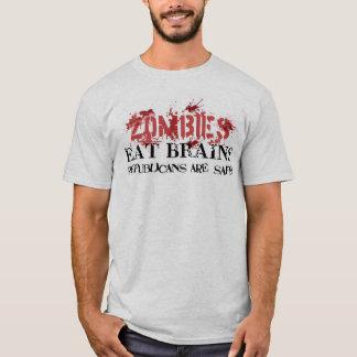 Zombies Eat Brains, Republicans are Safe T-Shirt