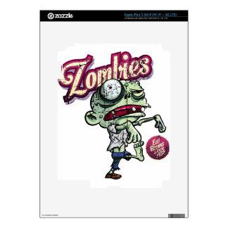 Zombies eat Brains iPad 3 Pegatinas Skins