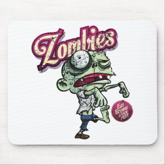 Zombies eat Brains Tapetes De Ratones