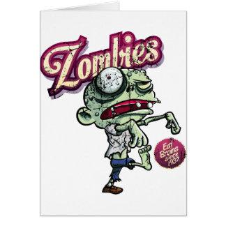 Zombies eat Brains Tarjetón