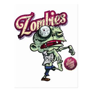 Zombies eat Brains Postales
