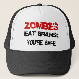 Zombies Eat Brains! Trucker Hat